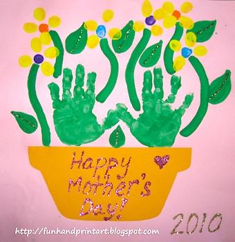 HandprintAndFootprintArts&Craftshandprintflowerpotmothersday