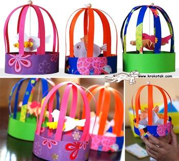 Krokotak paper bird cages