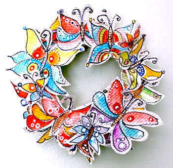 Alisa Burke butterfly wreath