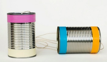 Made By Joel tin can phones