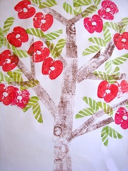 Nettle's Notes fruit tree print