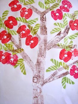 Nettle's Notes fruit tree print