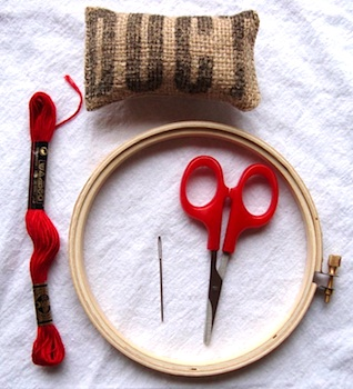 Maya*Made embroidering with children