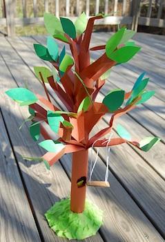 Ikat Bag paper tree