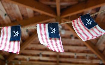 Saltwater kids flag garland