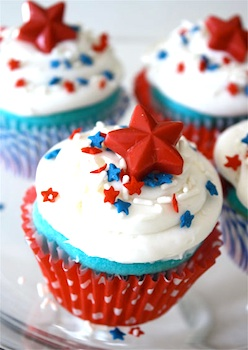 Skip To My Lou 4th of july cupcakes