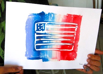 Art With Mrs. Smith 4th of july print making