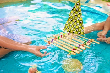 Childhood Magic bamboo raft