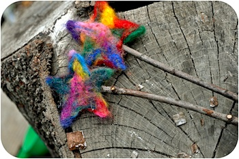 Small Things needle felted star wands