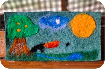 Small Things needle felting scene