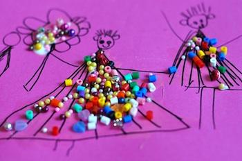 Lilla A beaded paper dresses