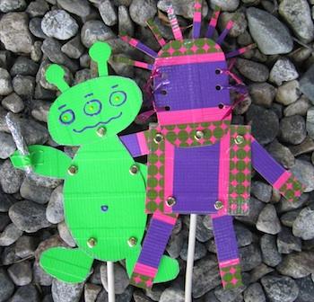 Meri Cherry alien puppets