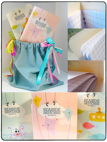 Kellie Medivitz seaside printable sketch books