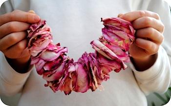 Garden Mama rose petal garland