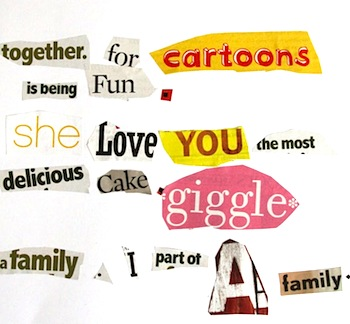 Whimsy Love word collage fun