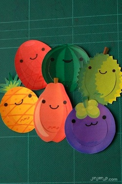 Jinjerup fruit bookmarks