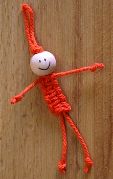Art Mind macrame doll