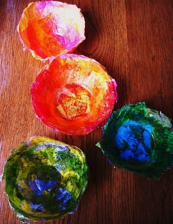 Sara's Art House tissue paper bowls