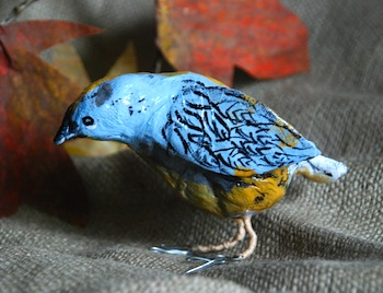 That Artist Woman papier mache bird