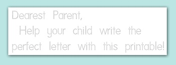 Creative Mama printable traceable stationery