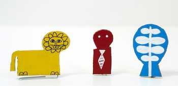 Made By Joel paper clip puppets