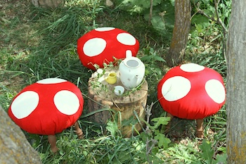 Tao Of Craft toadstool footstools