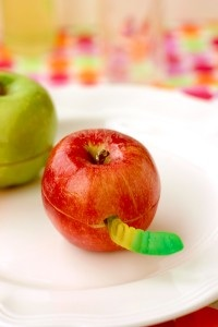 Babble wormy apple snack