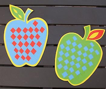 Creative Jewish Mom woven paper apples