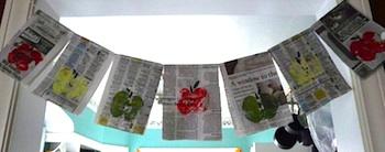 Sassy Priscilla's apple print bunting