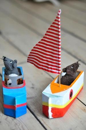 Lilla A milk carton boat