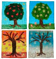 Craft Tutorials four seasons treesX