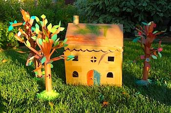 Ikat Bag cardboard dollhouse