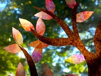 Frugal Family Fun autumn window display