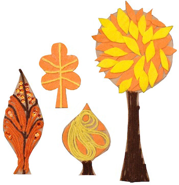 Creative Jewish Mom mobile fall trees