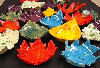Red Ted autumn leaf bowls 1
