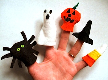 Naptime Crafters felt halloween finger puppets