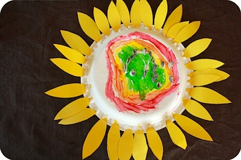 Paper Plate Sunflower. My Little Piece Of That Azure Sky sunflower & Paper Plate Sunflower - Things to Make and Do Crafts and Activities ...