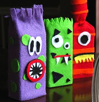 recycle juice boxes into monsters