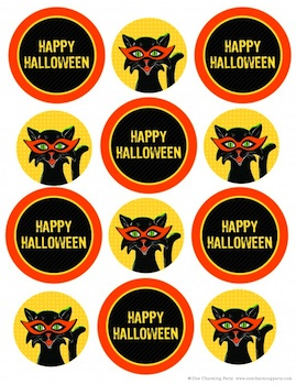 One Charming Party halloween treat bag labels