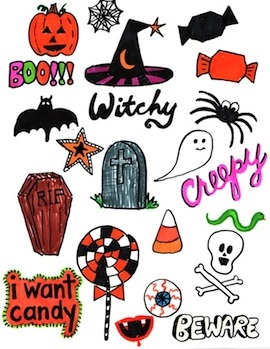 The Swell Life halloween stickers