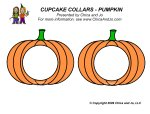 Chica And Jo cupcak collars pumpkin