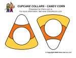 Chica And Jo cupacake collars candy corn