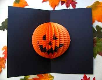 Zakka Life pumpkin pop-up card