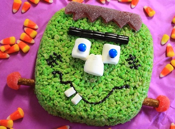 Edible Crafts frankenstein rice krispies
