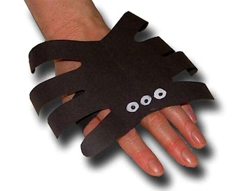 Paper Crafts For Children handprint spider wristlet