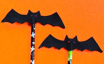 Twig And Toadstool bat pencil toppers
