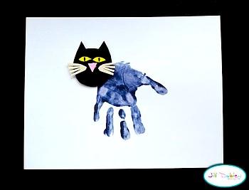 Meet The Dubiens handprint black cat