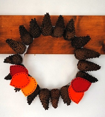 Prarie Mother pinecone wreath