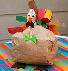 Kaboose paper bag turkey