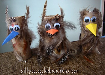 Silly Eagle Books paper tube owls